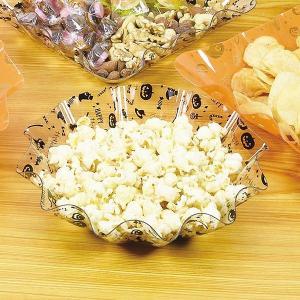 ボウル 23cm レッツハロウィーン プラスチック 深皿 食器 ( 中皿 菓子鉢 トレー ハロウィン おばけ かぼちゃ )|livingut