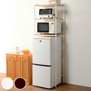 冷蔵庫ラック アイアンフレーム キッチン収納 幅58cm ( キッチンラック レンジ台 冷蔵庫 電子レンジ )|livingut