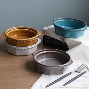 グラタン皿 14cm 美濃焼 コリーヌ Coline 皿 食器 磁器 日本製 ( 耐熱皿 耳付き 取っ手 シチューボウル 一人用 リム皿 白 ) livingut
