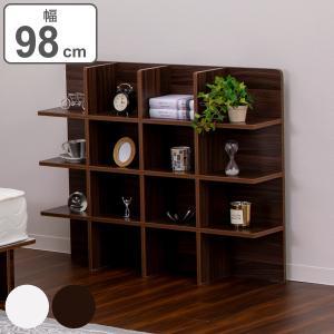 シェルフ 幅98cm 収納 ラック ベッド ベッドフレーム 組み立て簡単 ( ベッドサイド 棚 収納棚 壁面収納 )|リビングート PayPayモール店