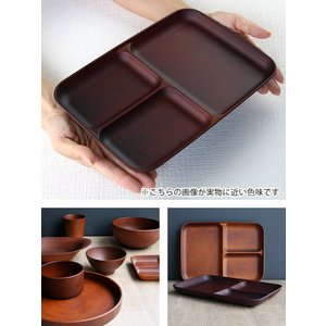 ランチ皿 27cm SEE 仕切皿 ワンプレート プラスチック 食器 皿 日本製 おしゃれ ( 電子レンジ対応 食洗機対応 木製風 ランチプレート 木目調 )|livingut|07