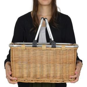 ピクニックバスケット 保冷かごバッグ 煮柳バスケット ふた付き ハンドル付き ( 保冷バッグ カゴバッグ 天然素材 ) livingut 05