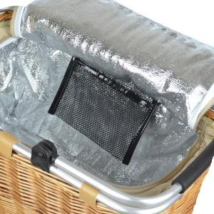 ピクニックバスケット 保冷かごバッグ 煮柳バスケット ふた付き ハンドル付き ( 保冷バッグ カゴバッグ 天然素材 ) livingut 06
