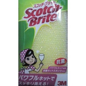 スコッチブライト 抗菌ネット スポンジたわし スコッチブライト パワフルネット ( キッチン スポンジ Scotch Brite )|livingut
