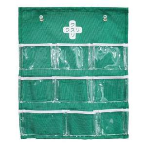 薬ケース くすり整理ポケット ( 薬入れ 薬収納 薬管理 薬箱 ピルケース くすりケース ) livingut