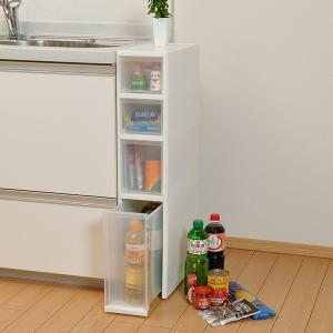 キッチン隙間収納 収納ストッカー LISE リセ スリムストッカー 引き出しS+M+L 4段 キッチン収納 ( プラスチック製 キッチンストッカー 隙間収納 )|livingut|06