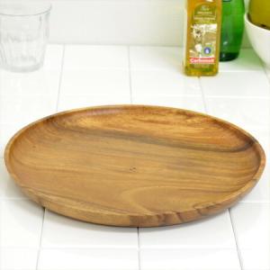 アカシア プレート 大皿 丸皿 木製 30cm 食器 ( お皿 丸型 ウッドプレート )|livingut