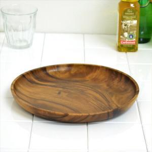 アカシア プレート 丸皿 木製 25cm 食器 ( お皿 丸型 ウッドプレート )|livingut