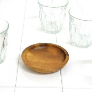 アカシア プレート 小皿 丸型 木製 10cm 食器 ( お皿 丸皿 ウッドプレート )|livingut