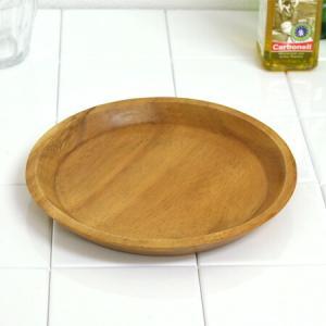 アカシア プレート 丸皿 フラット 木製 20cm 食器 ( お皿 ウッド ナチュラル )|livingut