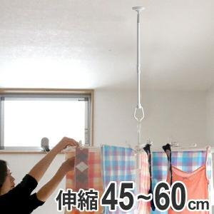 室内物干し 吊下げ型室内物干 長さ45cm〜60cm 伸縮 ( 部屋干し 吊り下げ 天井 )|livingut