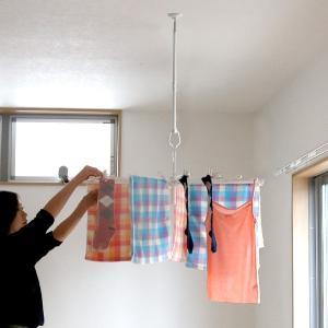 室内物干し 吊下げ型室内物干 長さ45cm〜60cm 伸縮 ( 部屋干し 吊り下げ 天井 )|livingut|09