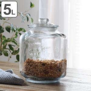保存容器 5L ガラス製 ガラスクッキージャー ( ガラス保存瓶 保存瓶 米びつ )|livingut