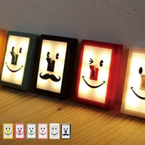 スマイルスイッチLEDライト 電池式 ( デザイン照明 ラン...