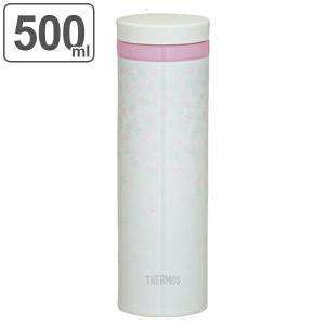 水筒 サーモス thermos 真空断熱ケータイマグ 直飲み 500ml JNY-500 桜 ( 送料無料 軽量 日本製 スリム ステンレスボトル マグボトル 魔法瓶 )