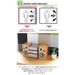 吸音材 吸音パネル フェルメノン 45度カット 80×60cm 吸音 防音 ( パネル ボード 吸音ボード ) livingut 07