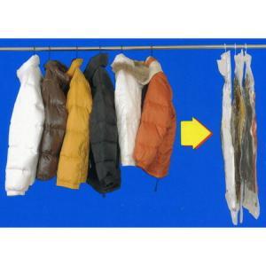 衣類圧縮袋 ハンガーにそのままつるせる衣類圧縮袋 ショート ( クローゼット用 収納 )|livingut