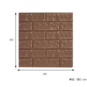 壁紙シール 貼れるやわらかレンガパネル 45×45cm ( インテリアシール ウォールステッカー リフォームシール )|livingut|05