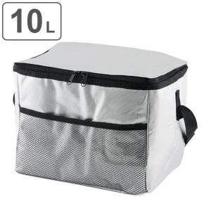 クーラーボックス ソフトクーラーバッグ アルミ 10L 小型 ショルダーベルト付き ( 保冷バッグ 冷蔵ボックス 折りたたみ ) livingut