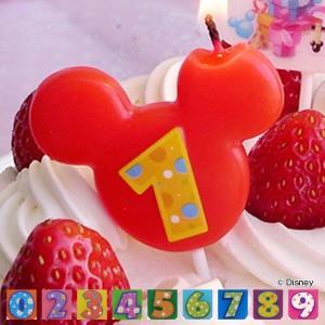 ナンバーキャンドル ろうそく 数字 お誕生日 ディズニー ( キャンドル ミッキーマウス ケーキキャンドル )|livingut