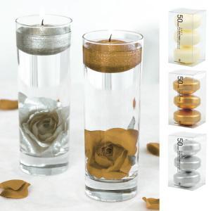 フローティングキャンドル 水に浮くキャンドル ろうそく フローティング50 3個入 ( ロウソク フロートキャンドル 癒し )|livingut