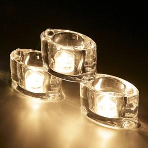 キャンドルホルダー キャンドルグラス ティーライト用 エンジェルアイ ガラス製 ( キャンドルスタンド ろうそく立て アロマ 香り キャンドル )|livingut