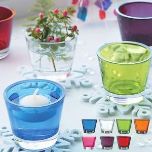 キャンドルホルダー キャンドルグラス カラリス ガラス製 ( キャンドルスタンド ろうそく立て アロマ 香り キャンドル )|livingut