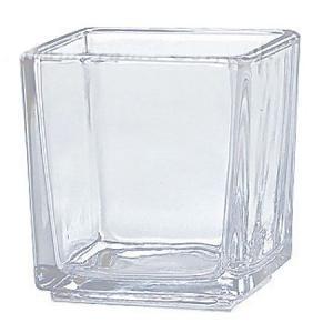 キャンドルホルダー キャンドルグラス スクエアグラス ティーライト用 S ガラス製 ( キャンドルスタンド ろうそく立て アロマ 香り キャンドル )|livingut|02