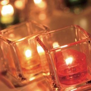 キャンドルホルダー キャンドルグラス スクエアグラス ティーライト用 S ガラス製 ( キャンドルスタンド ろうそく立て アロマ 香り キャンドル )|livingut|03