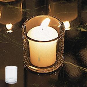 キャンドルポット キャンドルホルダー コップ型 ガラス製 ( キャンドルスタンド ろうそく立て キャンドルグラス )|livingut