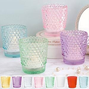 キャンドルホルダー キャンドルグラス ガラス製 ホビネルグラス ( キャンドルスタンド ろうそく立て アロマ 香り キャンドル )|livingut