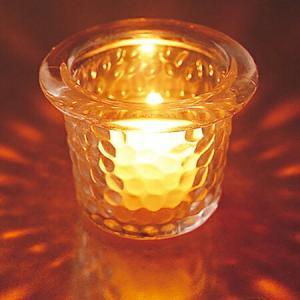 キャンドルホルダー キャンドルグラス ガラス製 ハンマードグラスライトハウス ( キャンドルスタンド ろうそく立て アロマ 香り キャンドル )|livingut