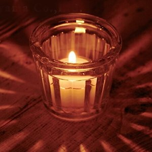 キャンドルホルダー キャンドルグラス ガラス製 フルーティッドグラス ( キャンドルスタンド ろうそく立て アロマ 香り キャンドル )|livingut