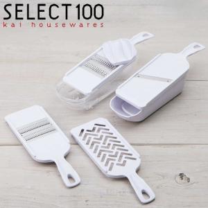 ●千切り器2種類、スライサー1個、おろし器1個、指ガードのセット●千切り器は通常の千切りができるもの...