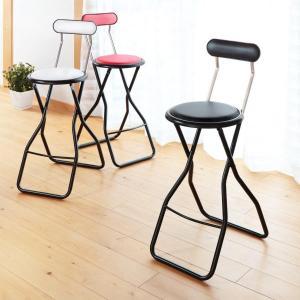 折りたたみ椅子 キャプテンチェア ハイタイプ ブラック ( チェア イス )