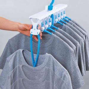 洗濯ハンガー ワンタッチハンガー 8連 ( ワンタッチ ハンガー 洗濯 )|livingut