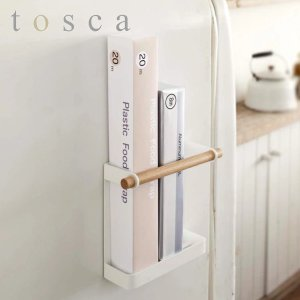 ラップホルダー マグネット トスカ tosca 木製 ( ラップ立て 磁石 キッチン収納 ラップ置き...