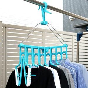 洗濯ハンガー 新機能折りたたみ8連ハンガー スライド ( 物干しハンガー 洗濯用品 角ハンガー )|livingut
