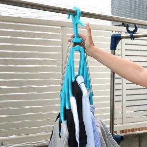 洗濯ハンガー 新機能折りたたみ8連ハンガー スライド ()|livingut|03