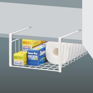 ワイヤーバスケット 吊り戸棚用バスケット スリム キッチン収納 ( ワイヤーボックス キッチンラック 収納棚 )|livingut