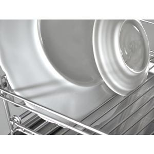 水切りかご SUIマイスター ステンレス 折りたたみ コンパクト 水切りラック 大 日本製 ( 水切りカゴ スリム ステンレス製 水切り )|livingut|06