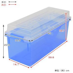 収納ケース メディア収納ボックス DVD・CDケース ( メディアケース フタ付き プラスチック製 )|livingut|05