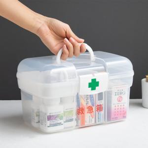 ●使いたい時にサッと持ち出せる、持ち手の付いた救急箱です。 ●小物整理にも便利なトレー付き。 ●2段...