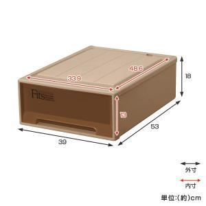 収納ケース Fits フィッツケースクローゼット S−53 ブラウン シール付 ( 収納ボックス 引き出し 衣装ケース 衣類収納 )|livingut|03