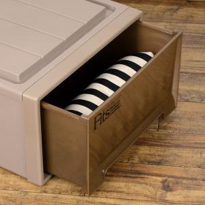 収納ケース Fits フィッツケースクローゼット S−53 ブラウン シール付 ( 収納ボックス 引き出し 衣装ケース 衣類収納 )|livingut|04