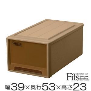 収納ケース Fits フィッツケースクローゼット M−53 ブラウン シール付 ( 収納ボックス 引き出し 衣装ケース 衣類収納 )|livingut