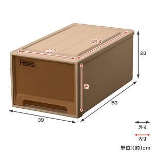 収納ケース Fits フィッツケースクローゼット M−53 ブラウン シール付 ( 収納ボックス 引き出し 衣装ケース 衣類収納 )|livingut|03