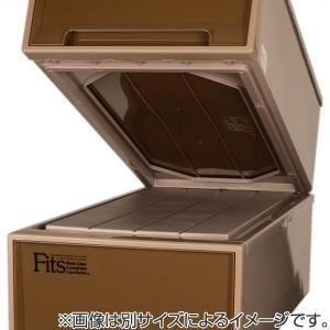 収納ケース Fits フィッツケース ディープ ブラウン シール付 ( 収納ボックス 衣装ケース 衣類収納 )|livingut|06