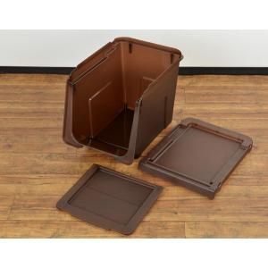 収納ボックス 前開き 幅30×奥行42×高さ31cm KABAKO カバコ スリム M ( 収納ケース フタ付き 収納 ケース ボックス スタッキング おもちゃ箱 プラスチック )|livingut|06