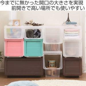収納ボックス 前開き 幅60×奥行42×高さ31cm KABAKO カバコ ワイド M ( 収納ケース フタ付き 収納 ケース ボックス スタッキング おもちゃ箱 プラスチック )|livingut|02